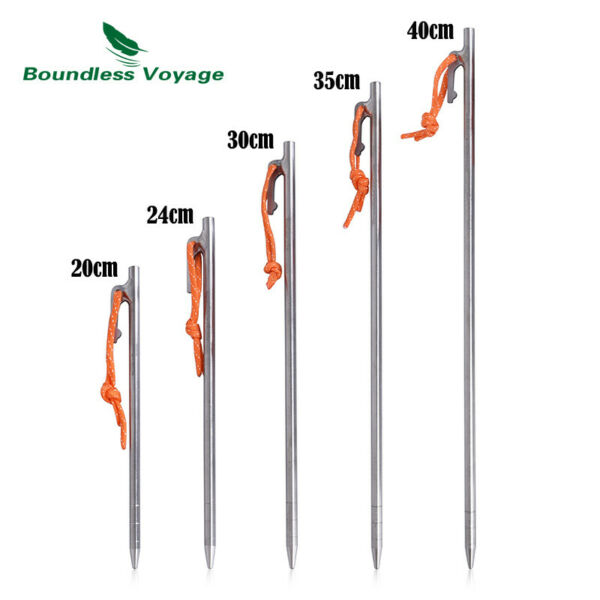 6pcs Tent Stakes Titanium Pegs Camp Nails Tent Accessories for Camping Hiking