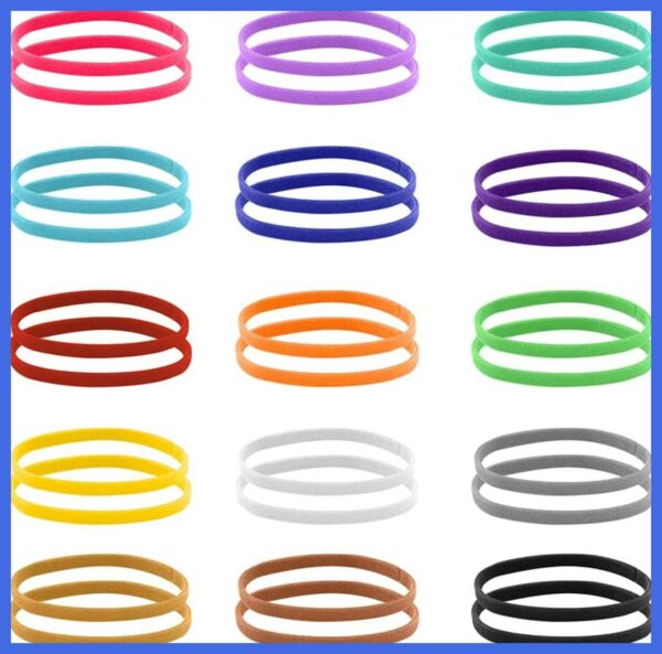 Puppy Whelping Collars 30 PCS 2 Pack ID Double Sided Soft Adjustable Bands For N