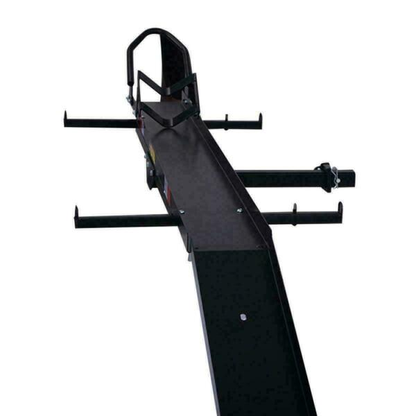 600 LBS Heavy Duty Motorcycle Carrier Dirt Bike Rack Hitch Mount Hauler w Ramp $206.96