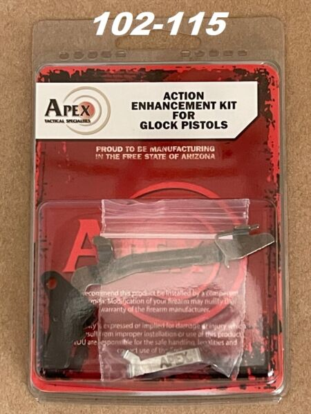 Apex Tactical 102 115 Performance Enhancement Trigger Kit for Glock Gen 3 amp; 4