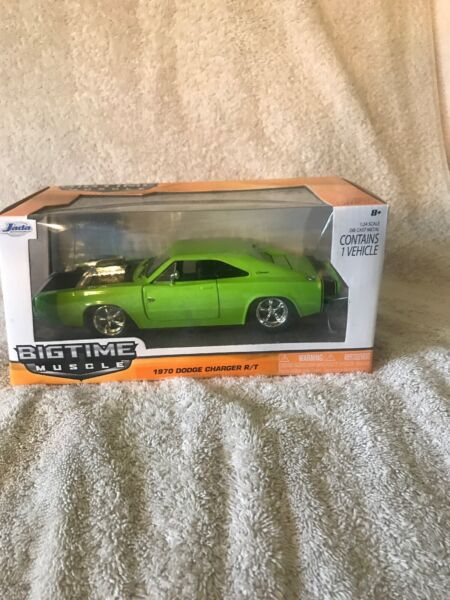 NEW JADA 1:24 1970 DODGE CHARGER R T DIE CAST GREEN 97595 BIGTIME MUSCLE VHTF