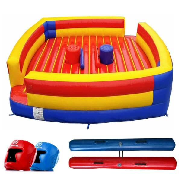 Commercial Inflatable Pedestal Joust Arena with Blower Helmets Joust Pods