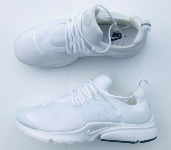 Nike Air Presto Essential Running Shoes 848187-100 White Black Mesh Men's Sz 12