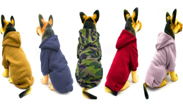 AXEL PETS Hoodie Sport Sweatshirt for Dog and Puppy Warm Hooded Pullover cloth $8.95