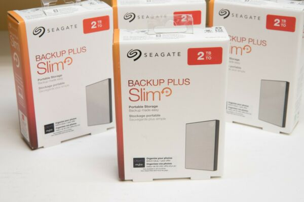 2TB Seagate Backup Plus Slim External Hard Drive Portable HDD STHN2000401 PCMAC