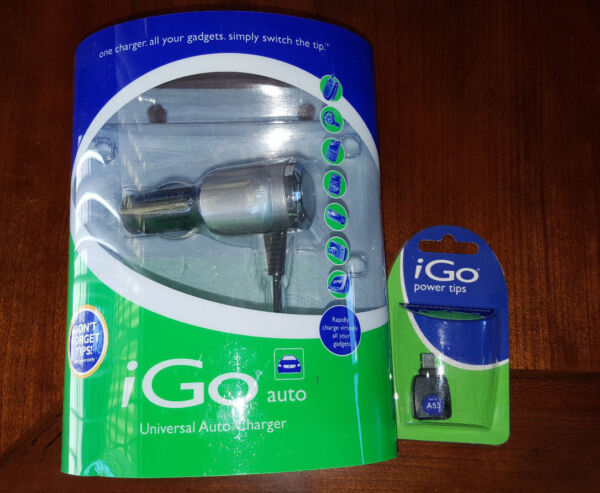 Brand New iGo universal auto charger with A53 tip for cingular spint and Garmin $12.00