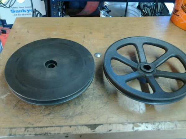 Vintage Gilson Snowblower Cast Iron  Drive Pulley Sheave Speed Disk Set OBSOLETE