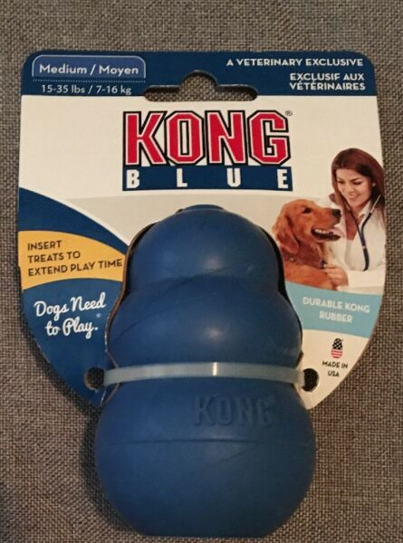 KONG BLUE INTERACTIVE DOG TOY Medium For 15-35lbs