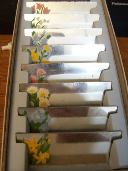 Vintage Antique Glass Mirror Place Card Blank Name Tags