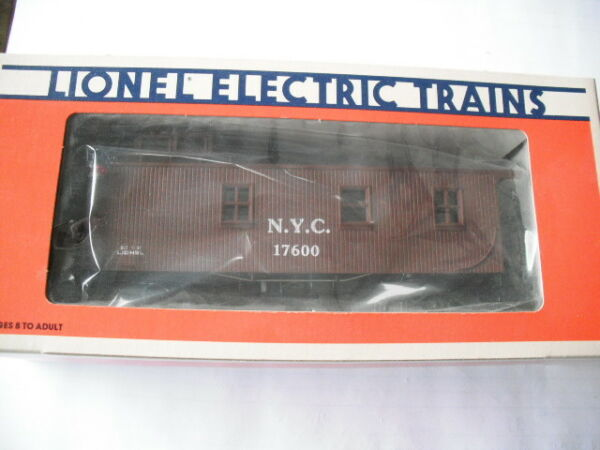 LIONEL NEW YORK CENTRAL WOOD SIDED CABOOSE 6 17600 NEVER REMOVED FROM BOX $39.99