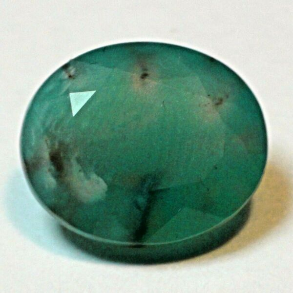 RARE! 6.70 ct NATURAL GEM SILICA CHRYSOCOLLA  RAY MINE OVAL CUT STONE