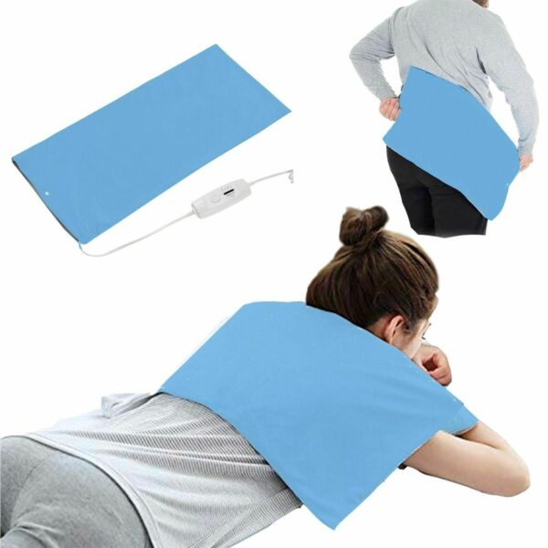 Electric Heating Pad KING SIZE Back Pain Relief Dry Moist Heat Neck Shoulders