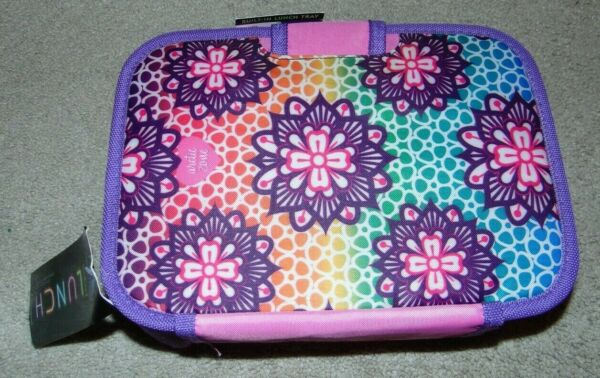 ~NWT Girls ARCTIC ZONE Flower Insulated Zipperless Lunch BoxPail Nice FS:)~