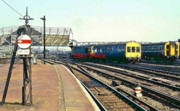 PHOTO CLAPHAM RAILWAY STATION LSWR SIGNAL AND OLD SIGNAL BOX. 5.85