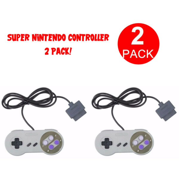 2 FOR New Super Nintendo SNES System Console Replacement Controller 6FT SNS 005 $8.98