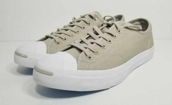 Converse Jack Purcell OX Mens Size 10 Pale Grey White