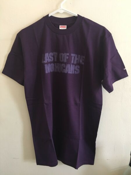 "Supreme Tee T Shirt ""Last Of The Mohicans"" Sz M Brand New Mint Extreme Rare 2001"