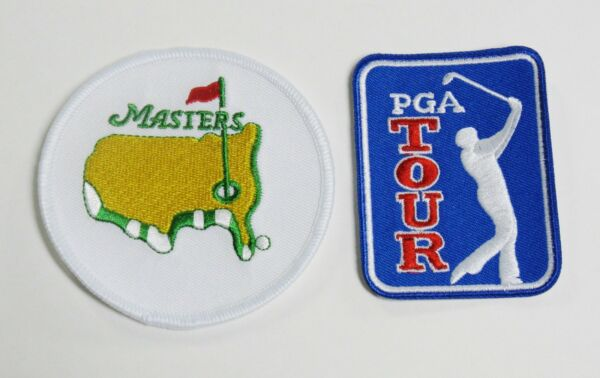 (1) LOT OF (2) GOLF PGA TOUR & MASTERS PATCH  PATCHES  LOGO IRON-ON ITEM # 131