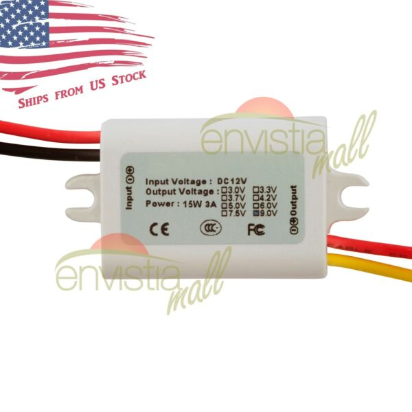 12V To 9V 1.7A 15W DC-DC Step Down Converter DC Power Supply Module Waterproof