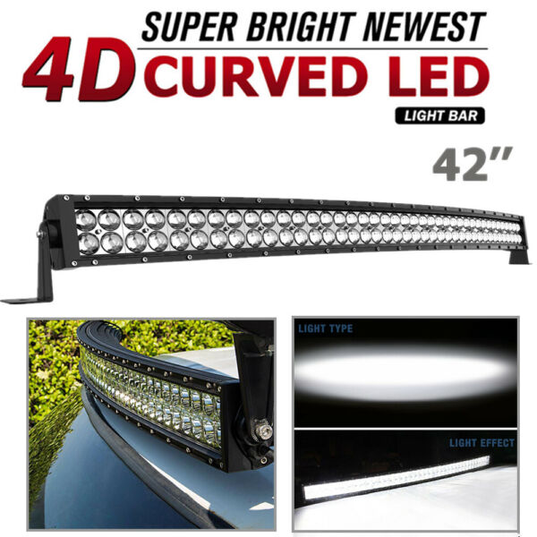 42quot; inch Curved LED Light Bar Combo Spot Flood Driving Pickup ATV Off Road 560W