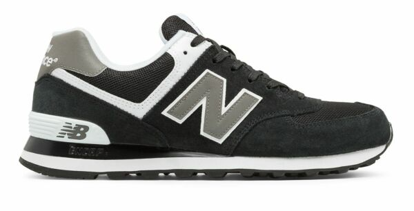 New Balance Male Men's 574 Classics Adult Shoes Black With Grey
