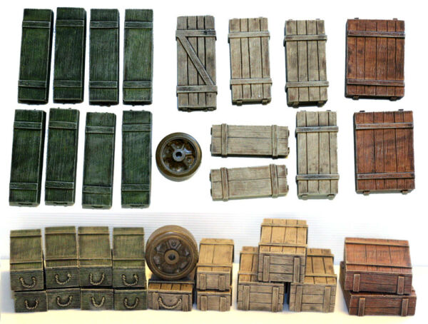 1 35 Universal Wooden Crates #5 Value Gear Details 16pcs Resin Stowage