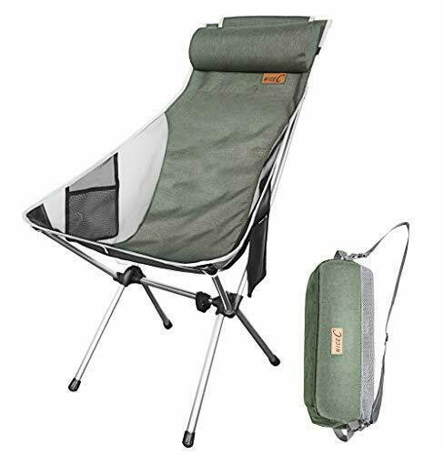 Ultralight High Back Folding Camping Chair With Headrest Outdoor Backpacking $55.99
