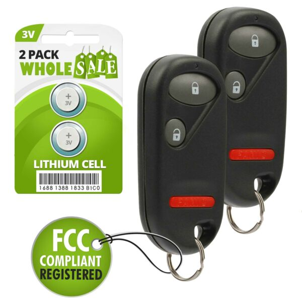 2 Pack NEW Keyless Entry Key Fob Remote For a 2003 Honda Element 2 BTN Fob