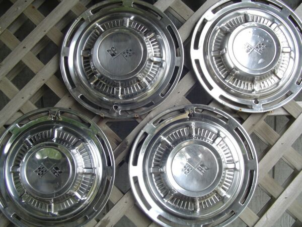 1959 CHEVROLET IMPALA VINTAGE HUBCAPS WHEEL COVERS CENTER CAPS ANTIQUE CLASSIC