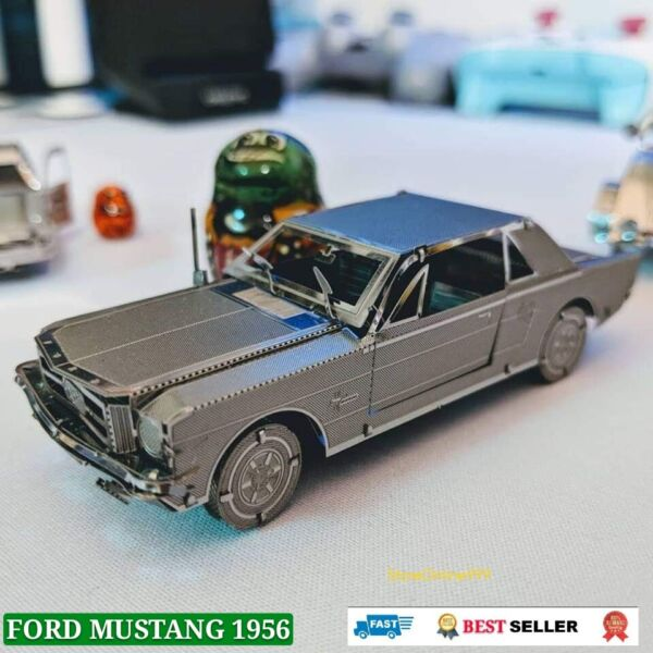Small Car FORD MUSTANG 1956 Model Toy for Children $18.76