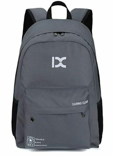 Grey Kid Adult Backpack Small Lightweight Day Pack Tablet Travel Bag Hiking Pack $11.59
