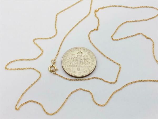 14K Solid Yellow Gold Ladies Very Dainty Thin ROPE Chain Necklace 16quot; 18quot; 20quot; $31.95