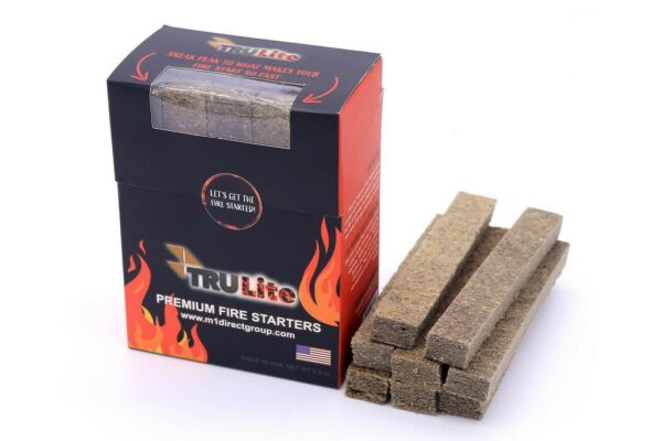 TRULite Premium Grill Starter Fires Smokers Camping Fireplace. 20 count box.
