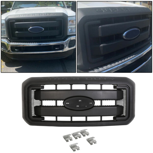 Black Grille Front Radiator Grill For 11-16 Ford F250 F350 Super Duty