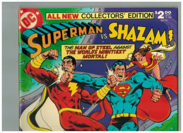 Superman vs SHAZAM Treasury C 58 2nd Black Adam after SHAZAM #28 1978 VF NM
