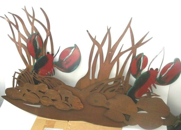 Metal Lobster or Crawfish Large Art Sign Sculpture UNIQUE For Business 4#x27;x33quot; $169.00