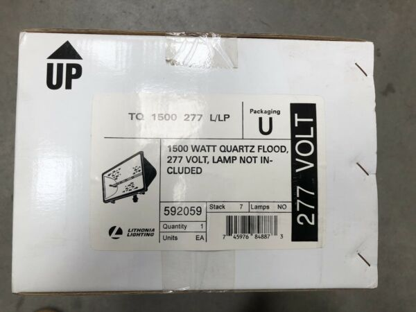Lithonia TQ 1500 277 L LP 1500 QUARTZ FLOOD LIGHT 277V