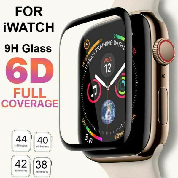 6D Tempered Glass Screen Protector For Apple Watch iWatch 5 4 3 2 38 40 42 44 mm $5.69