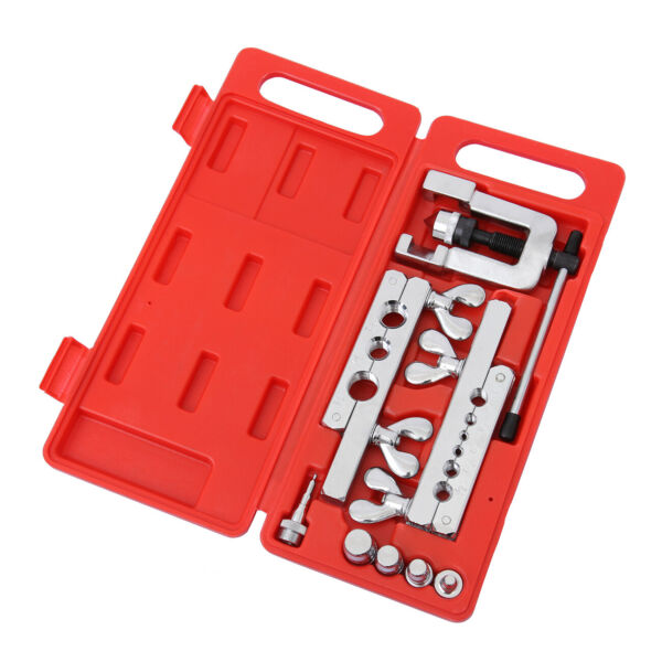 Portable HVAC Flaring and Swaging Tool Kit OD Soft Refrigeration Copper Tubing