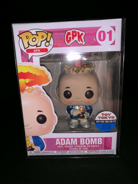 Funko Pop Garbage Pail Kids Adam Bomb #01 Toy Tokyo NYCC Exclusive. W POP PROT