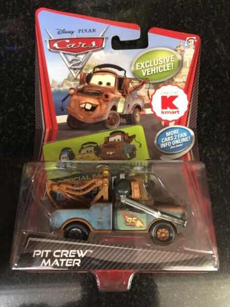 Disney Pixar Cars 2 Die Cast Pit Crew Mater 2010 V5131 Kmart 1:55 scale NEW