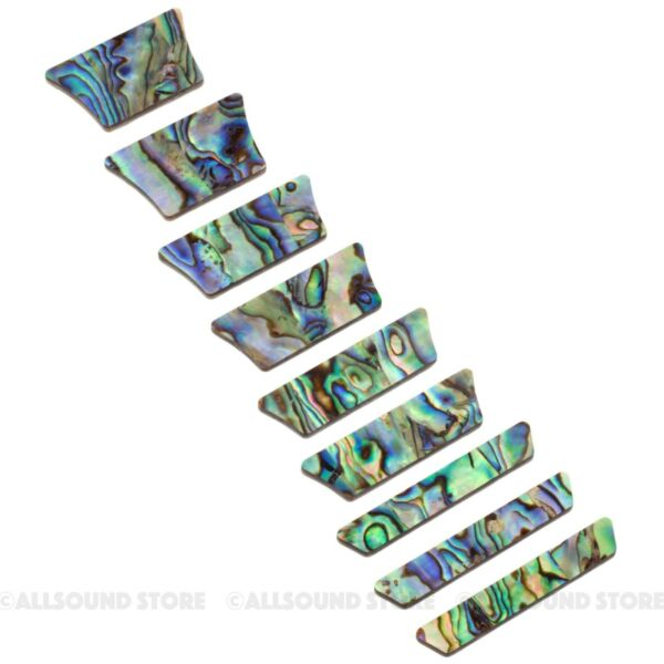 SOLID ABALONE Trapezoid Crown for Les Paul® LP Style Inlay Set 9 pieces