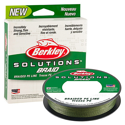 Berkley Solutions Mist Green Braided Line 110 Yards PE Fishing Line