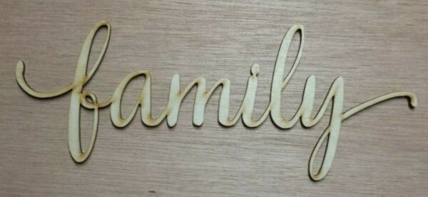 Family - unfinished wood cutout