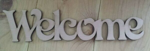 Welcome  - unfinished wood cutout