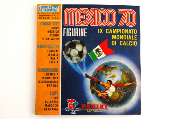 ALBUM PANINI MEXICO 70 +ORDER FORM+ GREEN BACKS ORIGINAL ONLY 4 STICKERS MISSING