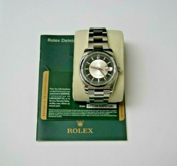 ROLEX OYSTER PERPETUAL DATEJUST REF.116200 SSTEEL 36mm OYSTER BAND NICE DIAL!
