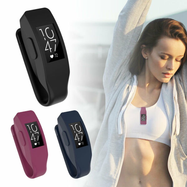 Metal Clip Watch Case Silicone Cover Holder For Fitbit Inspire  Inspire HR