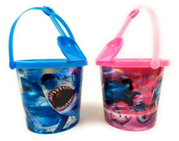Beach Pail Bucket with Shovel for Boys and Girls
