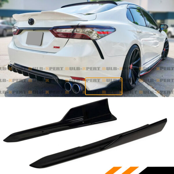 FOR 2018-2020 TOYOTA CAMRY SE XSE ART STYLE BLACK REAR BUMPER SIDE CO